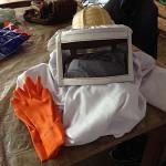 養蜂場の作業服
