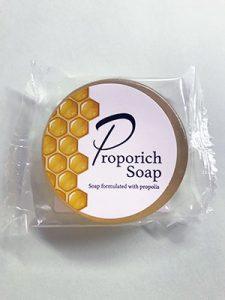 石鹸のプロにお願いして作っていただいたプロポリス石鹸、プロポリッチソープ